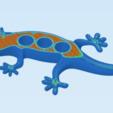 Imprimir en 3D gratis Imán de la nevera Gecko, cult3dp