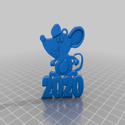 Download free STL file 2020 mouse Christmas decorations • 3D printer design, AndreyR3