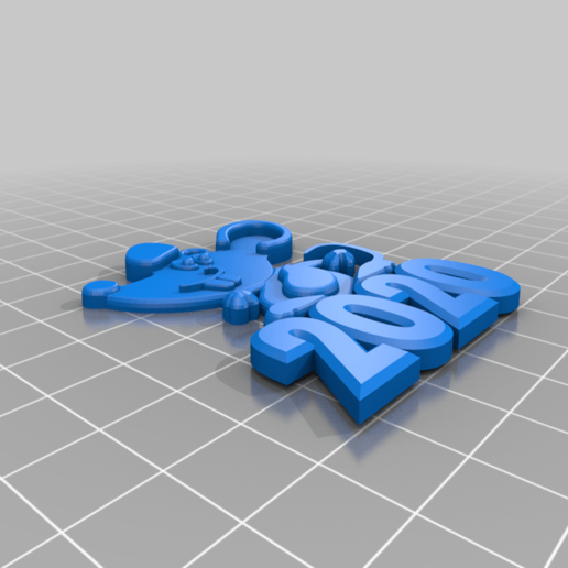 2020_mouse_on_surface.png Download free STL file 2020 mouse Christmas decorations • 3D printer design, AndreyR3