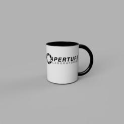 Apreture mug v2.png Download STL file Aperture mug • 3D printer model, Acryfox