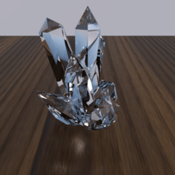 Download free 3D printing templates Crystal, Acryfox