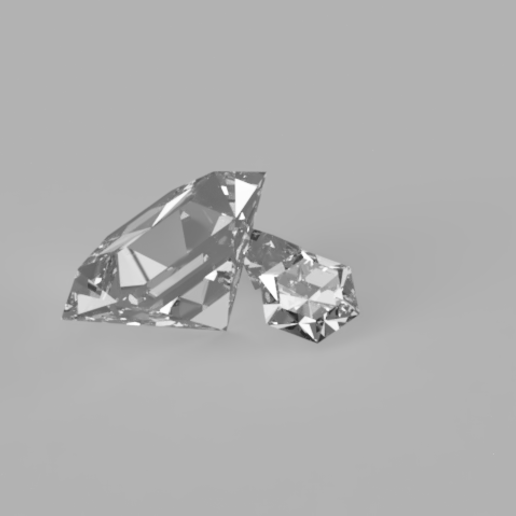 Download 3D printer designs Diamond 6 sided and 8 sided, Acryfox