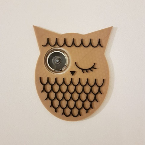 Download free 3D printer files Owl - eyelet / door viewer, nicotintin35
