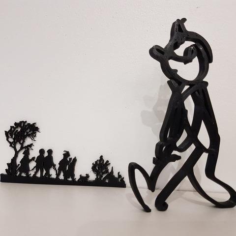 """Télécharger fichier 3D gratuit Tintin """"Alph'Art"""" esquisse HERGE, nicotintin35"""
