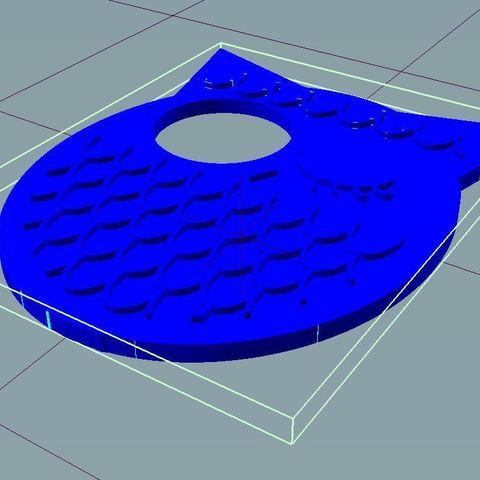 repetier-hibou.jpg Télécharger fichier STL gratuit Hibou - œilleton / judas de porte • Objet pour impression 3D, nicotintin35
