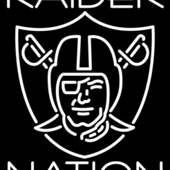 Download free STL Raider Nation Sign, jlockwood10108