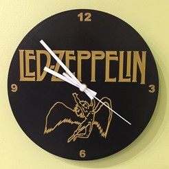 B72B316E-4B34-4ED1-90AA-359B56566965.jpeg Download STL file Led zeppelin clock • 3D printer object, laurentpruvot59