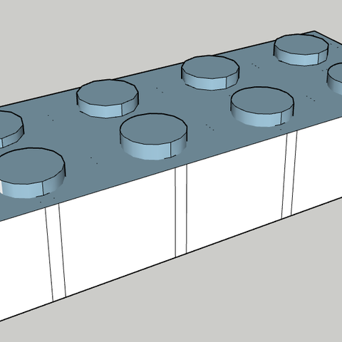 3D printing model brick, chicox77