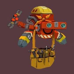 6.JPG Download STL file Scrap mechanic builderbot • 3D printer model, prevotmaxime68