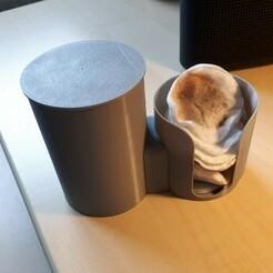 20210101_142321.jpg Download STL file Cotton disc dispenser/organizer • 3D printer template, prevotmaxime68