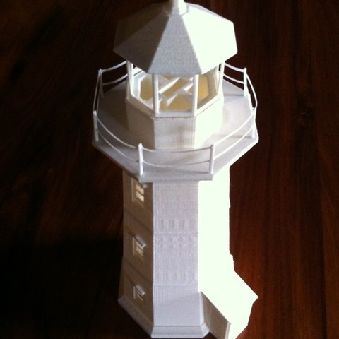 Free 3D printer designs Peggy's Cove Lighthouse, Ogubal3D