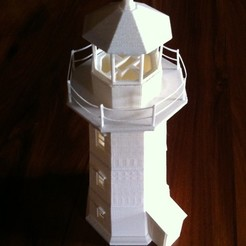 Download free STL file Peggy's Cove Lighthouse, Ogubal3D