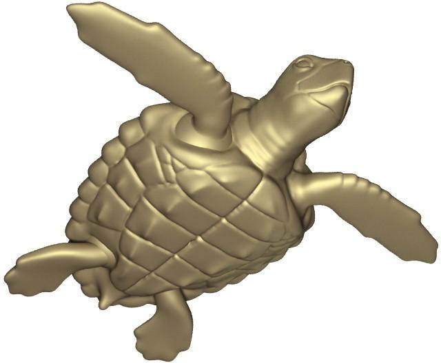 render_2_display_large.jpg Download free STL file Loggerhead Sea Turtle (poseable) • 3D printer template, Ogubal3D