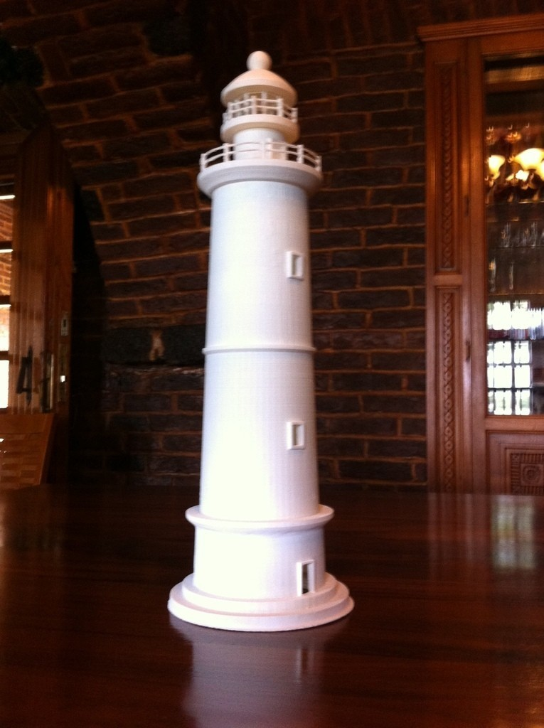 2014-12-08_09.42.44_display_large.jpg Download free STL file Round Base Lighthouse Model • Model to 3D print, Ogubal3D