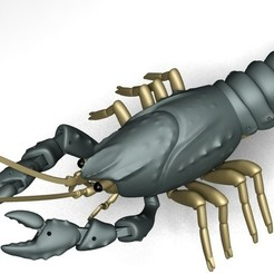 Download free 3D printer designs Articulated Crayfish, Ogubal3D