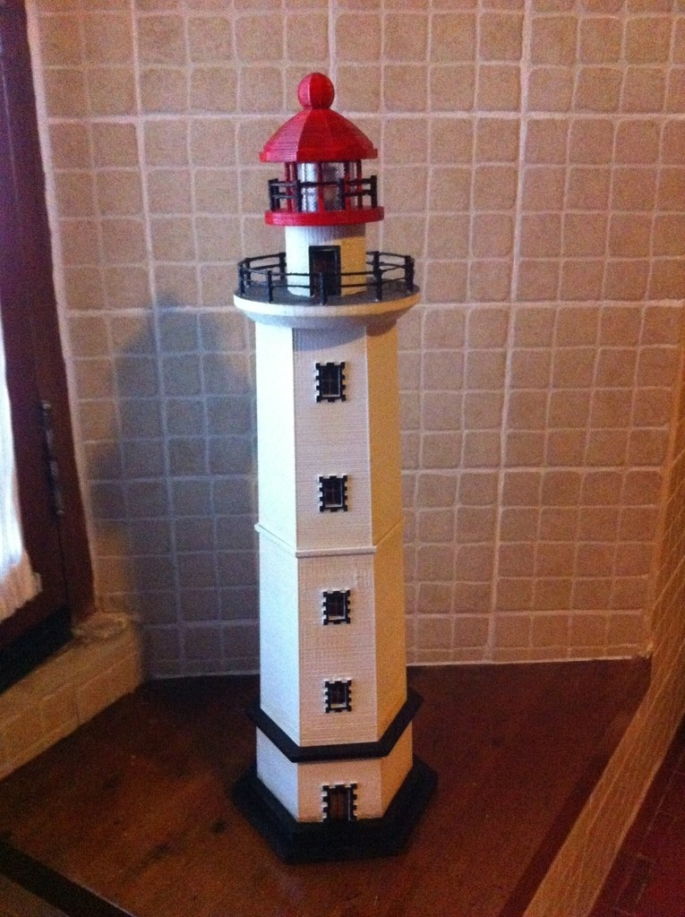 2014-12-31_12.28.47_display_large.jpg Download free STL file Hexagonal Base Lighthouse Model • 3D printable model, Ogubal3D