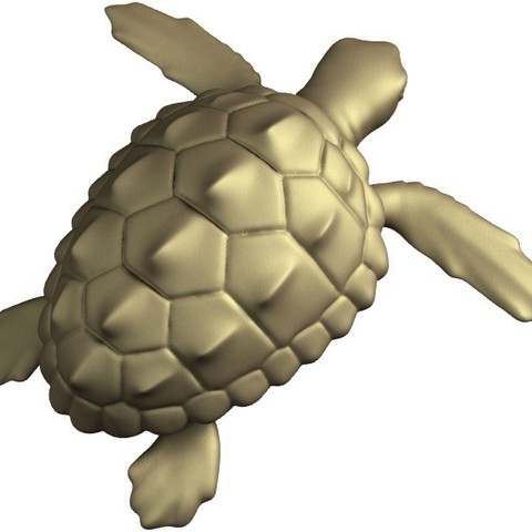 render_1_display_large.jpg Download free STL file Loggerhead Sea Turtle (poseable) • 3D printer template, Ogubal3D