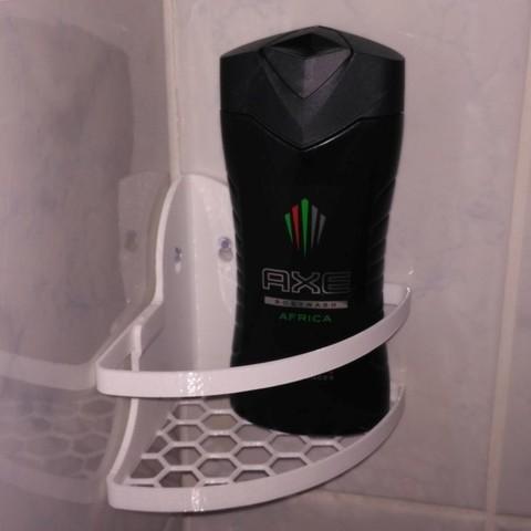 Télécharger fichier 3D gratuit Support d'angle pour shampooing V2, Ogubal3D