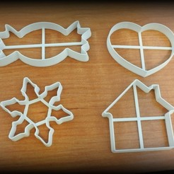 Download free STL Set of simple Christmas cutters, Ogubal3D