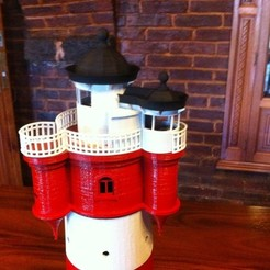 Free 3D printer designs Roter Sand Lighthouse Model, Ogubal3D