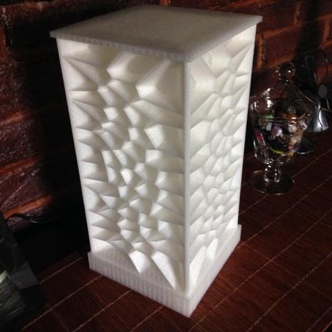 Télécharger STL gratuit Lampe d'ambiance Voronoi, Ogubal3D
