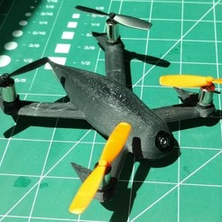 Download free 3D model FPV Evil Insect Quadcopter, Minweth