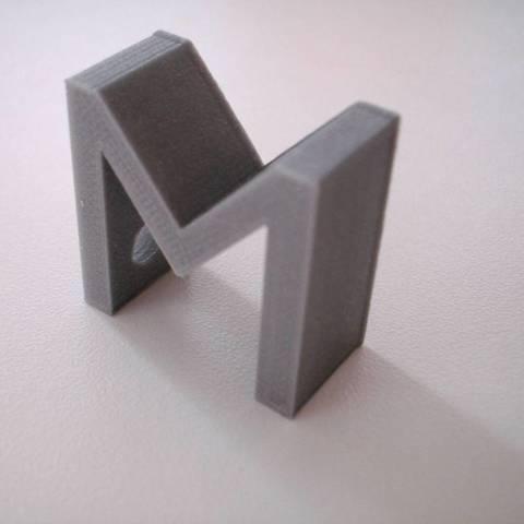 Download free 3D printer model Letter M as keyholder, Minweth