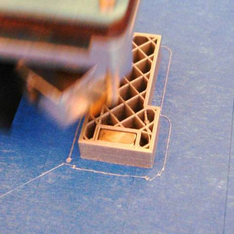 Download free 3D printer designs TestPrint for including a magnet into the PLA print, Minweth