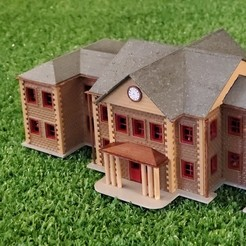 Download free STL files HO Scale School, cadcygnus