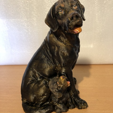 Download free 3D printing models Dog and Puppy 01, guyjask