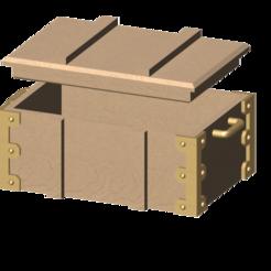 Télécharger fichier imprimante 3D gratuit caisse en bois 1/10, wavelog