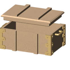 Free 3D print files wooden box 1/10, wavelog