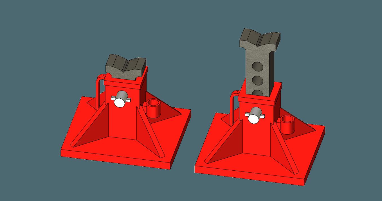 Jack Stand v1.png Télécharger fichier STL Support de vérin 1/10 • Modèle imprimable en 3D, wavelog