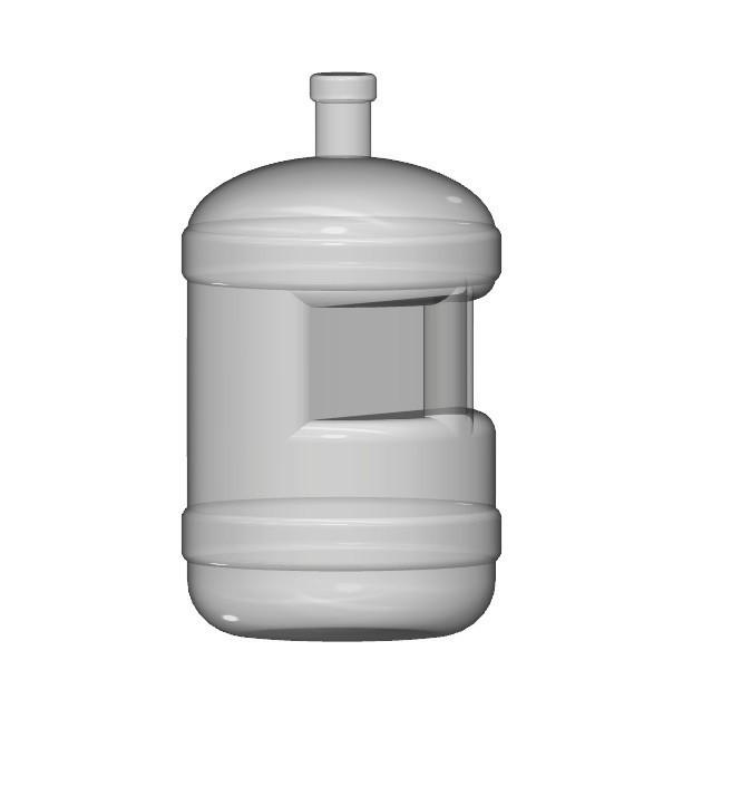 water bottle.jpg Download free STL file water bottle 1/10 • Template to 3D print, wavelog