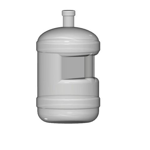 Free 3D print files water bottle 1/10, wavelog