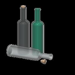 Télécharger plan imprimante 3D gatuit bouteille de vin 1/10, wavelog