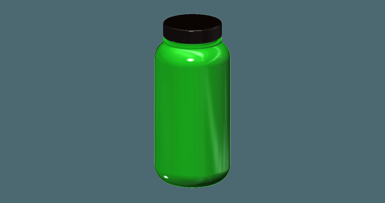 1l camping bottle 1.png Download free STL file 1l camping bottle 1/10 • 3D printer template, wavelog