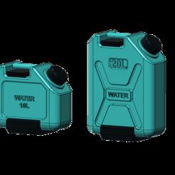Download 3D printer files water can set 1/10, wavelog