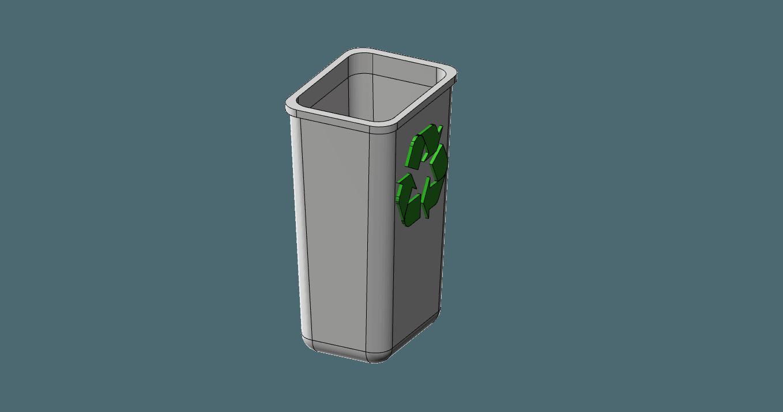 recycle bin.png Télécharger fichier STL gratuit corbeille 1/10 • Modèle imprimable en 3D, wavelog