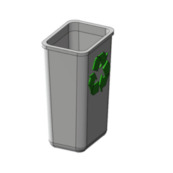 Download free 3D printer templates recycle bin 1/10, wavelog
