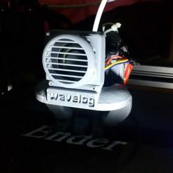Free 3D print files Fan grill bullseye stock ender 3 fan, wavelog