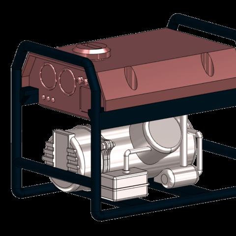 STL file gas engine generator 1/10, wavelog