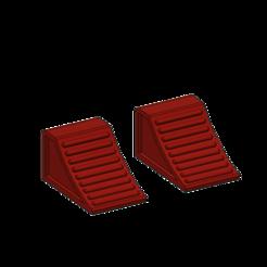 Free 3D print files wheel chock 1/10, wavelog