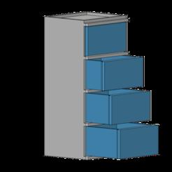 Fichier STL gratuit armoire 1/10, wavelog