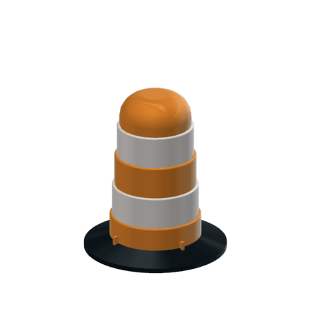 Download free 3D printing files Traffic Barrel Drum 1/10, wavelog
