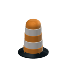 Traffic Barrel Drum 2.png Télécharger fichier STL gratuit Tambour de baril de circulation 1/10 • Design pour impression 3D, wavelog