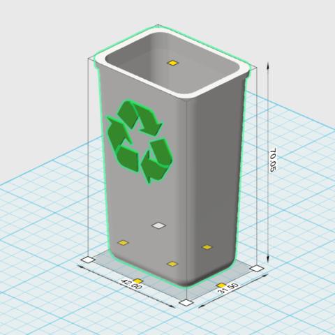 recycle bin 1.png Télécharger fichier STL gratuit corbeille 1/10 • Modèle imprimable en 3D, wavelog