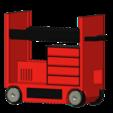 STL Carro de vagones de foso con porta neumáticos 1/10, wavelog