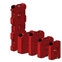 STL files Fuel can set rc crawler 1/10, wavelog