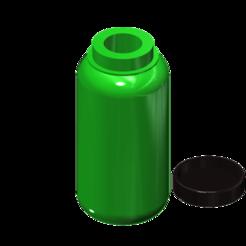 Modèle 3D gratuit 1l bouteille de camping 1/10, wavelog